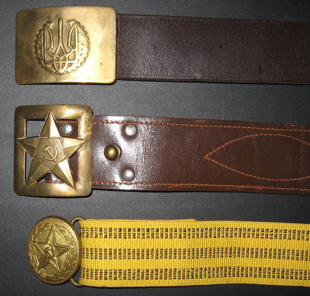 Офицерский и солдатский ремень — незаменимый элемент армейской формы