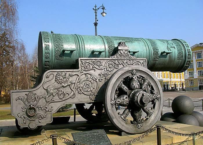 Царь-пушка — самое большое оружие, изобретённое вроссии