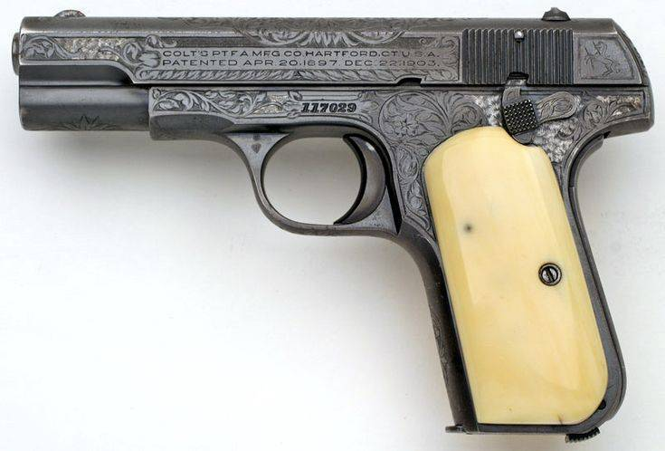 Пистолет colt m1903 hammerless pocket
