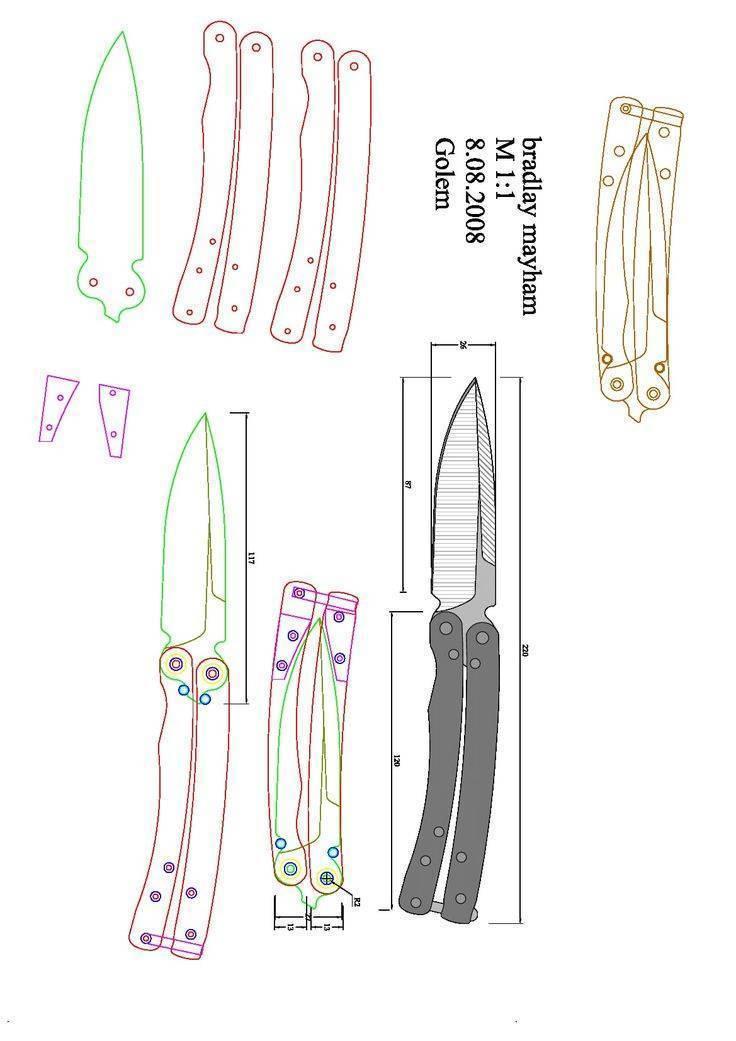 Самая опасная бабочка: анатомия балисонга