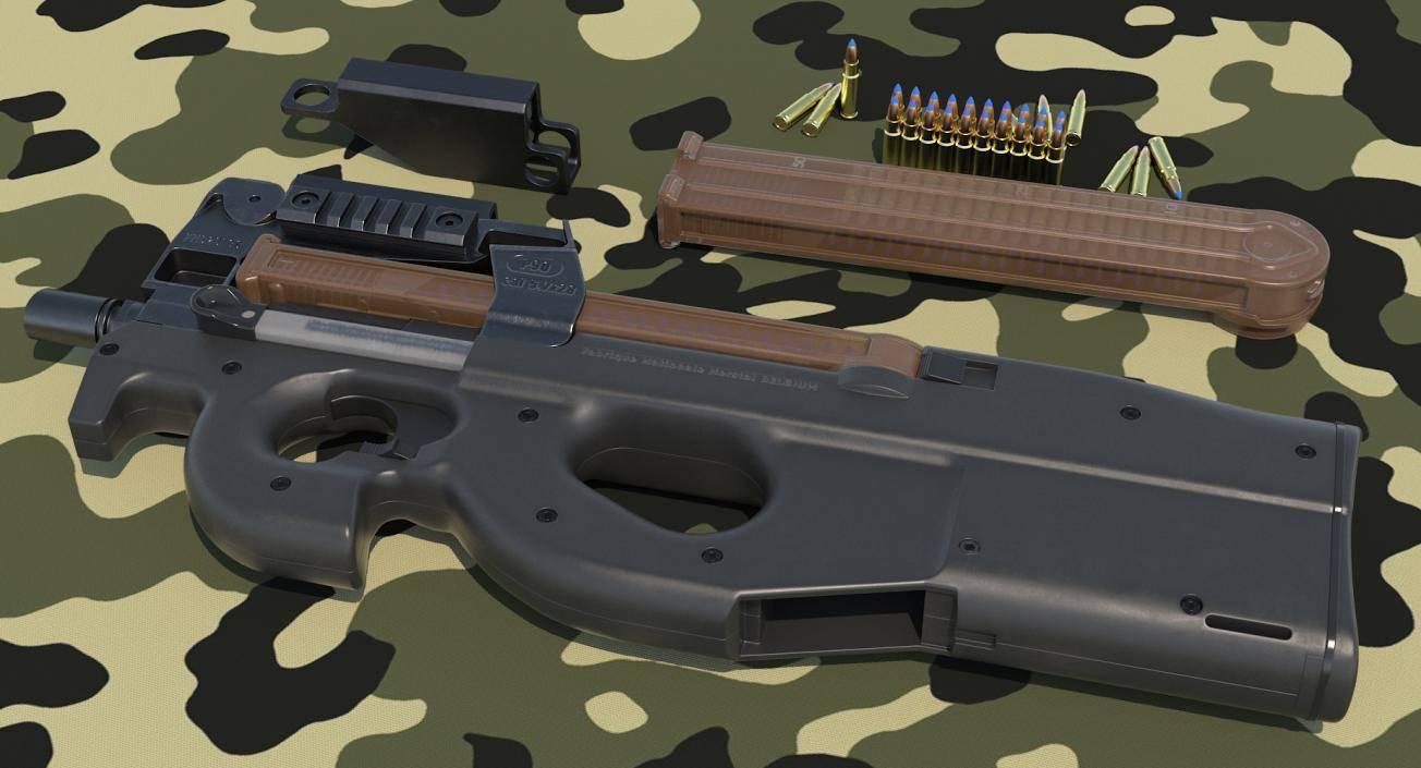 Fn p90 ттх. фото. видео. размеры. скорострельность. скорость пули. прицельная дальность. вес