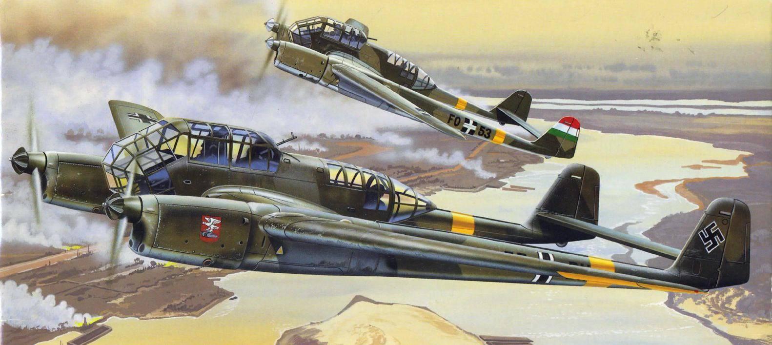 Сбитый немецкий самолет-разведчик фокке-вульф fw.189 | военный альбом