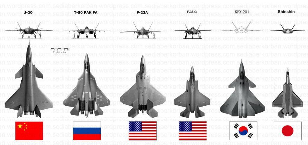 Портрет нафоне: китайский j-20 ироссийский су пак фа