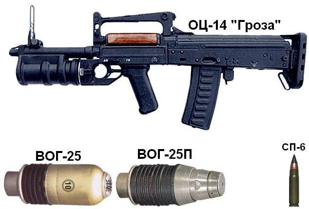 Оц-14 «гроза» автомат с подствольным гранатометом