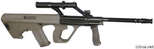 Steyr aug (a1, a2, a3) ттх. фото. видео. размеры. скорострельность. скорость пули. прицельная дальность. вес