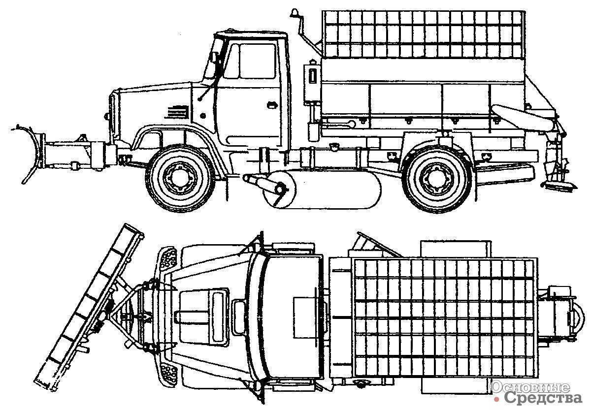 Зил 497442 шасси 4х2 в москве — продажа и лизинг