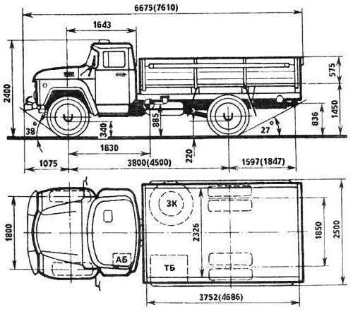 Автомобиль зил 431412