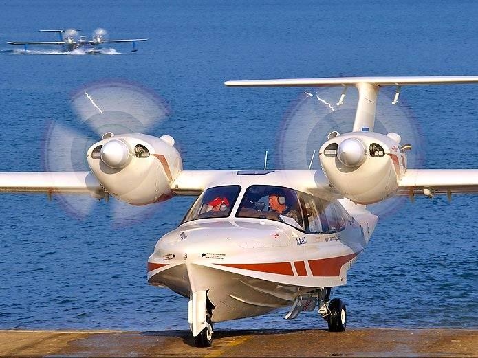 Восьмиместный самолет Ла-8 – красивая как птица сверхлегкая амфибия