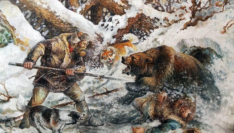 С рогатиной на медведя. охотничье оружие настоящих мужчин
