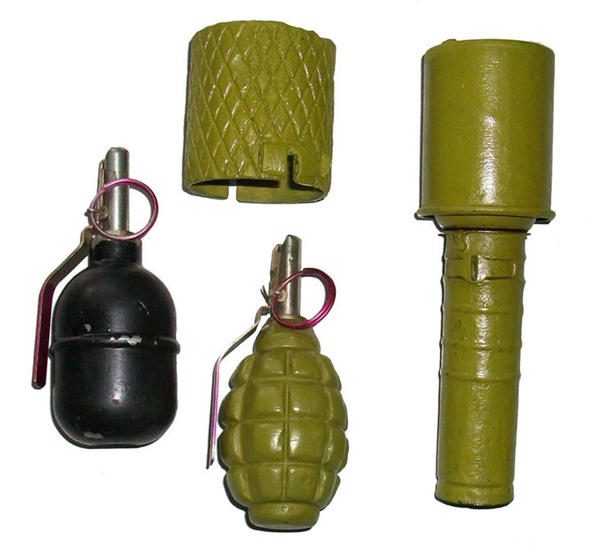 Ручные осколочные гранаты и применяемые с ними запалы