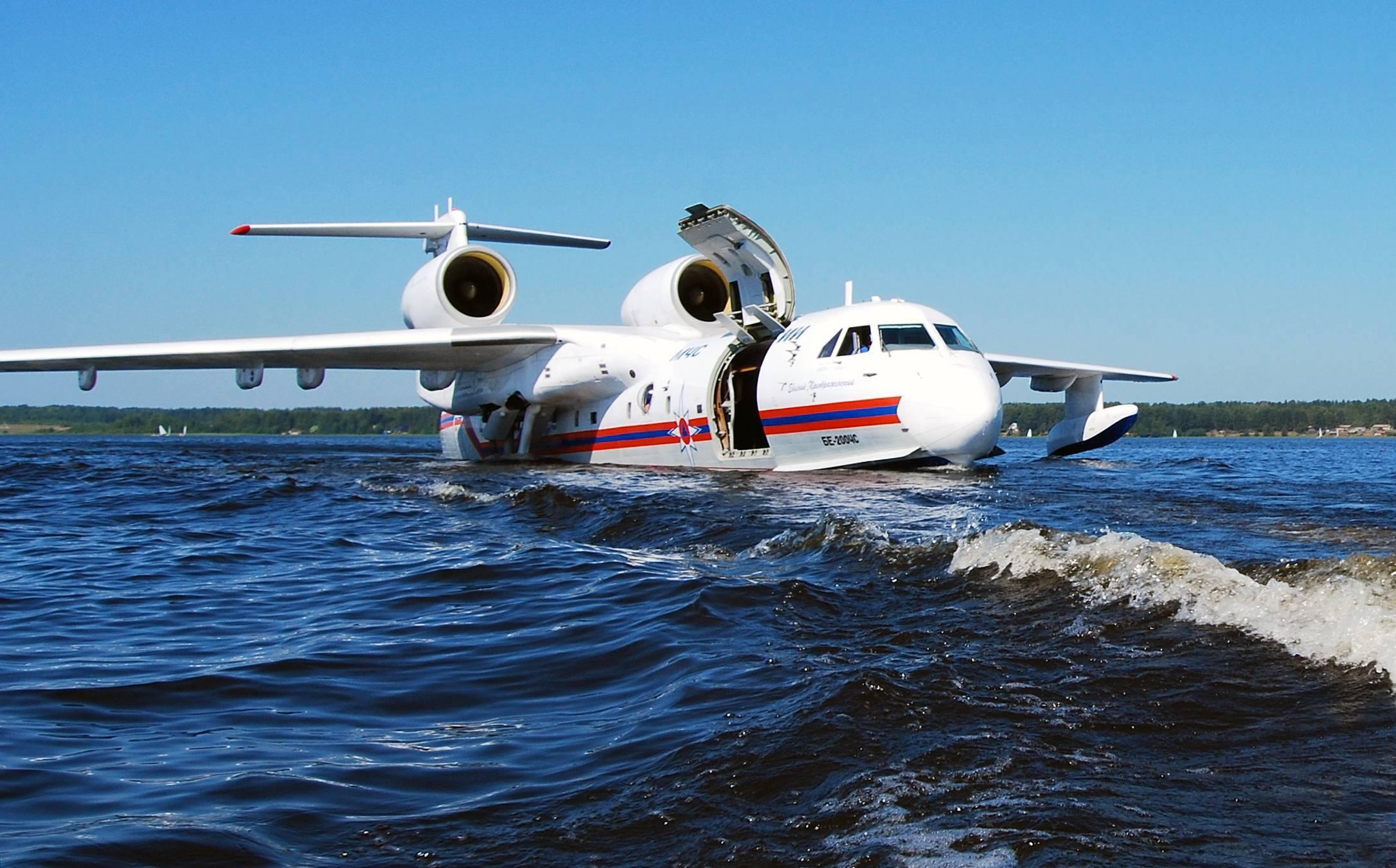Российский самолет-амфибия бе-200 чс показали после модернизации — российская газета