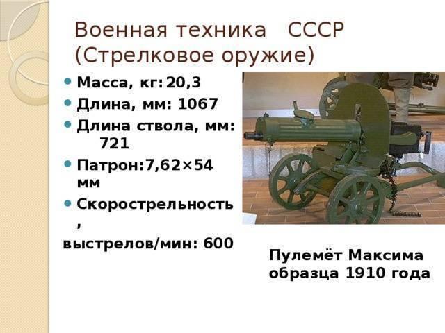 Пулемёт максима образца 1910 года