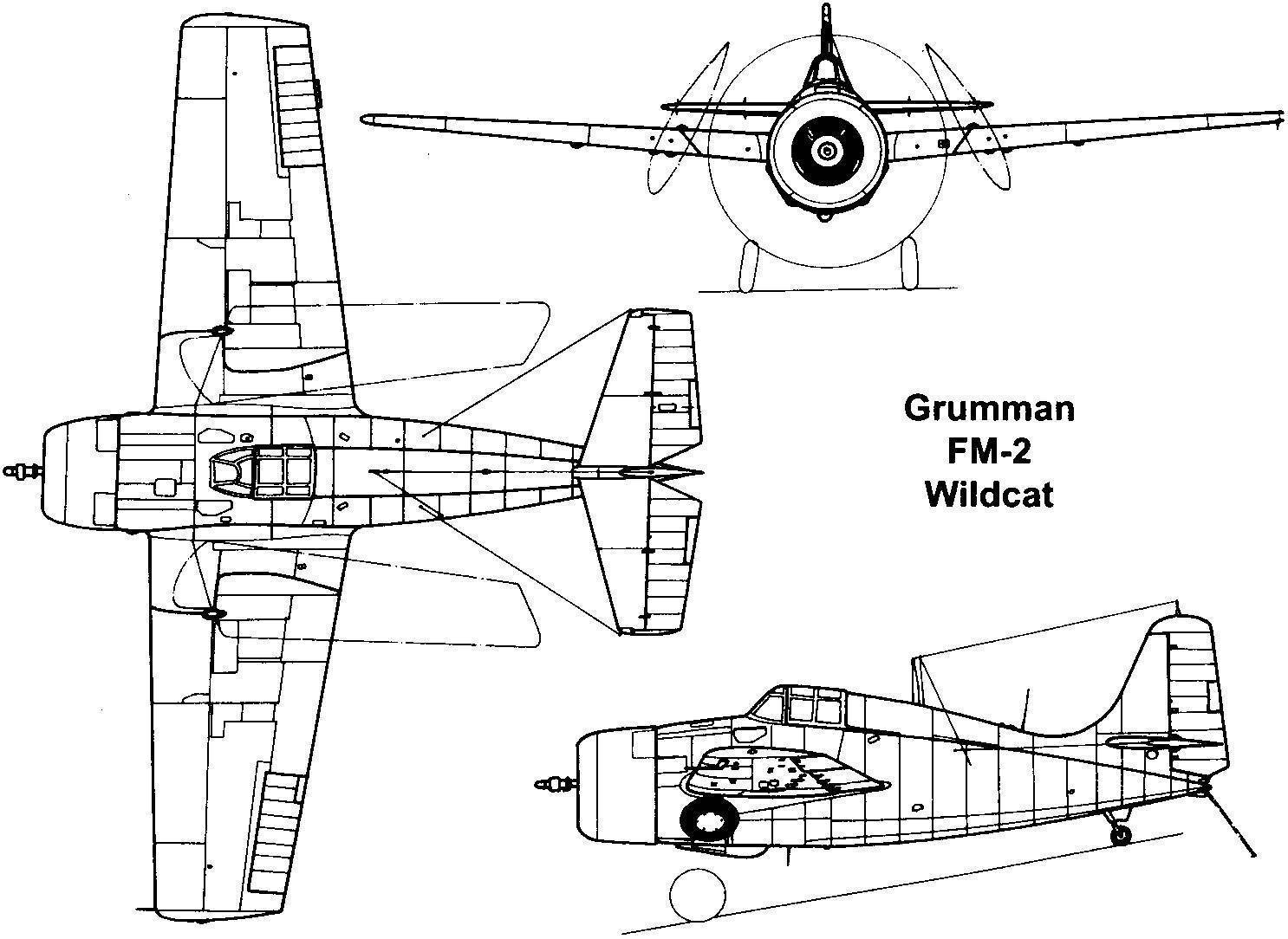 Grumman F4F – «Дикий кот» американских авианосцев