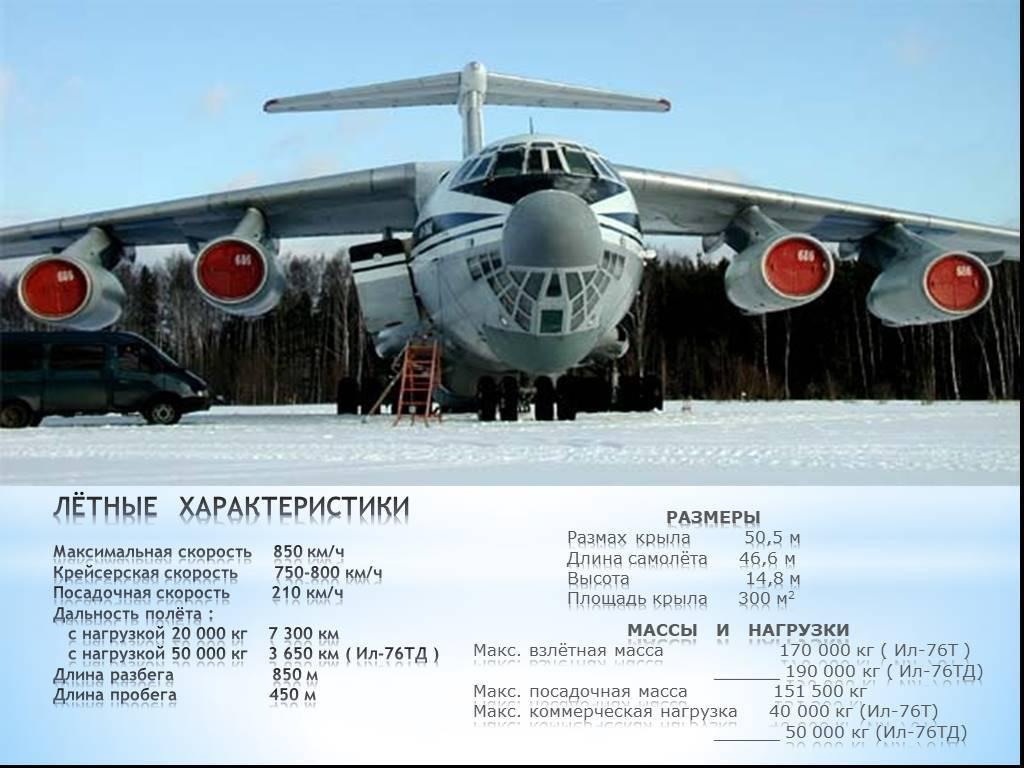 Ильюшин ил-76. фото. характеристики. история.