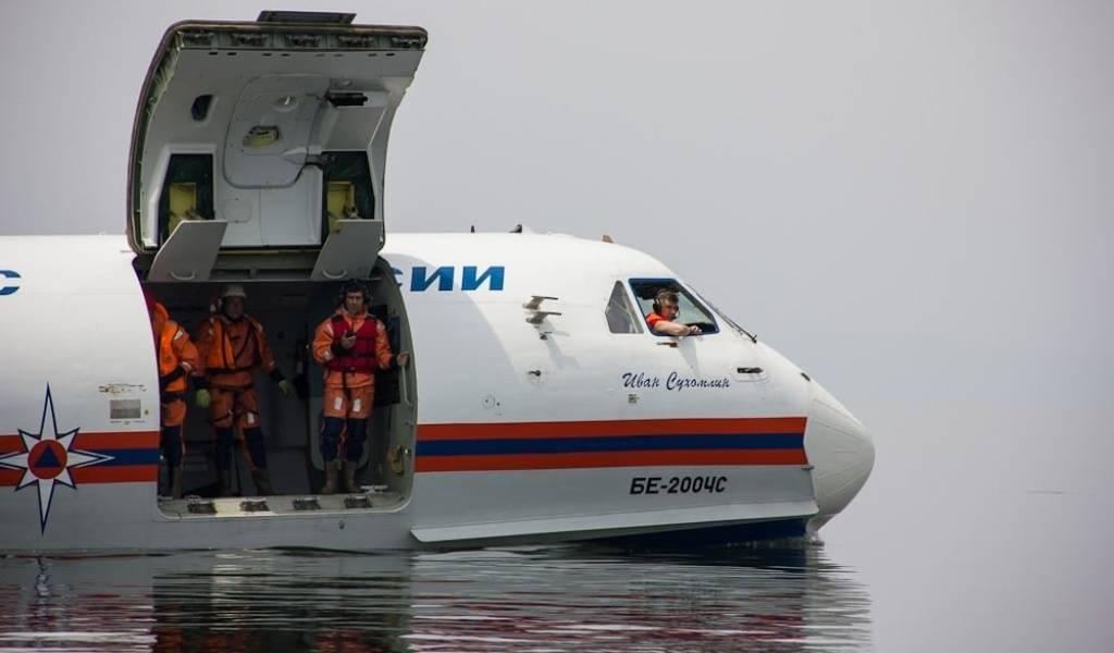 Бе 200 самолет амфибия где производят. видео испытания на воде. максимальный крейсерский режим