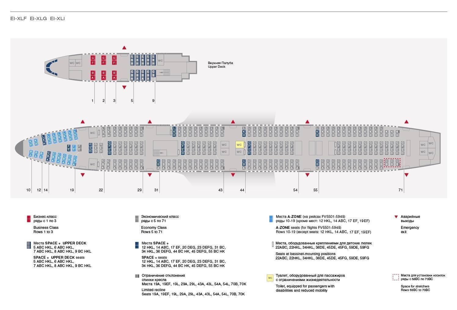 Какие бывают схемы популярных пассажирских самолетов? | какиебывают.рф