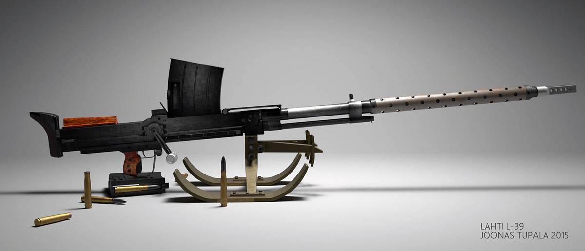 Противотанковое ружье Lahti L-39 - финская крупнокалиберная винтовка 39 года.