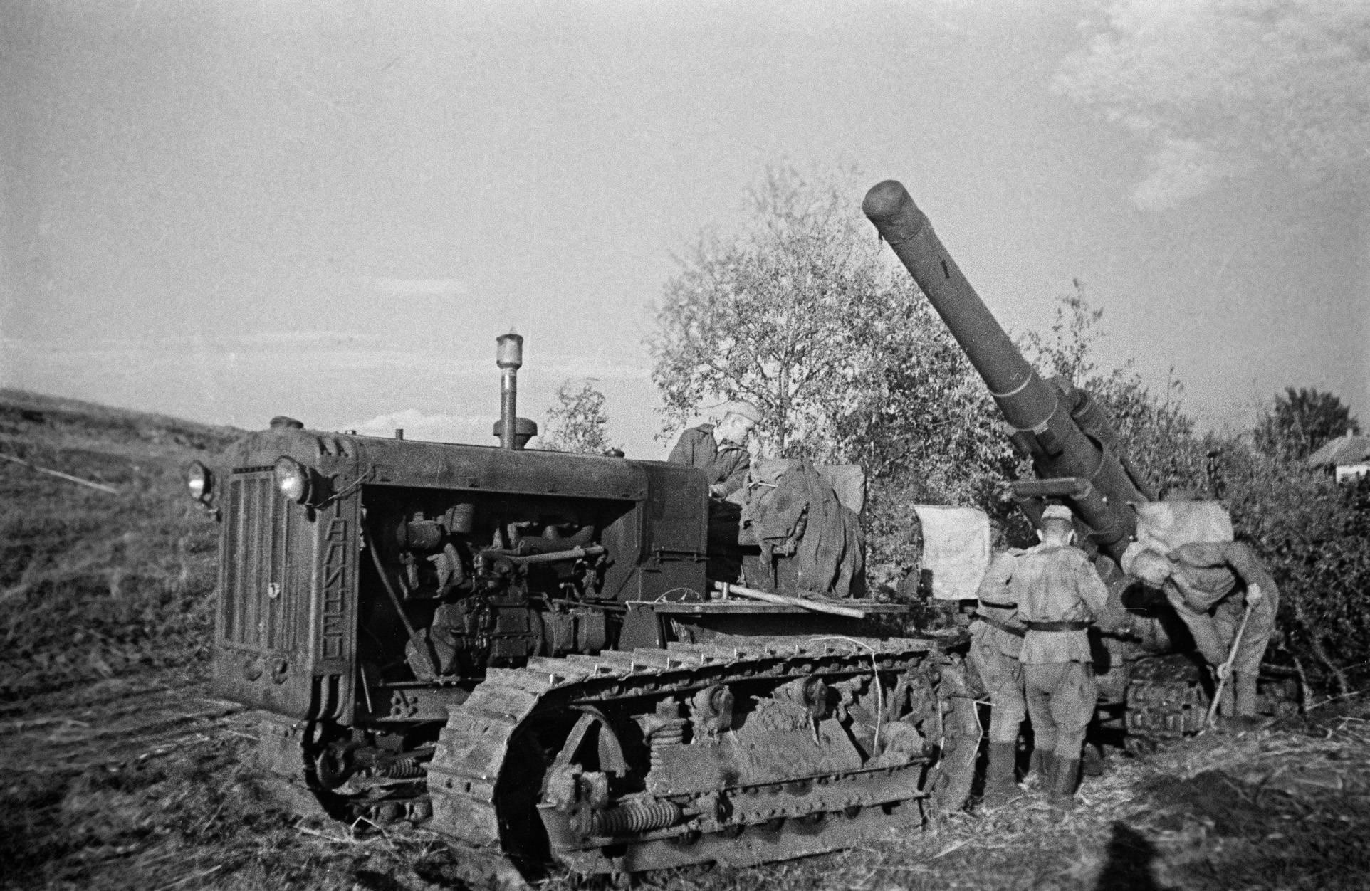 203-мм гаубица б-4 образца 1931 года фото. видео. устройство