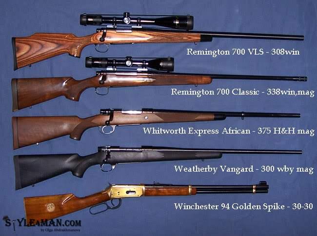 Охотничье оружие может быть гладкоствольным и нарезным