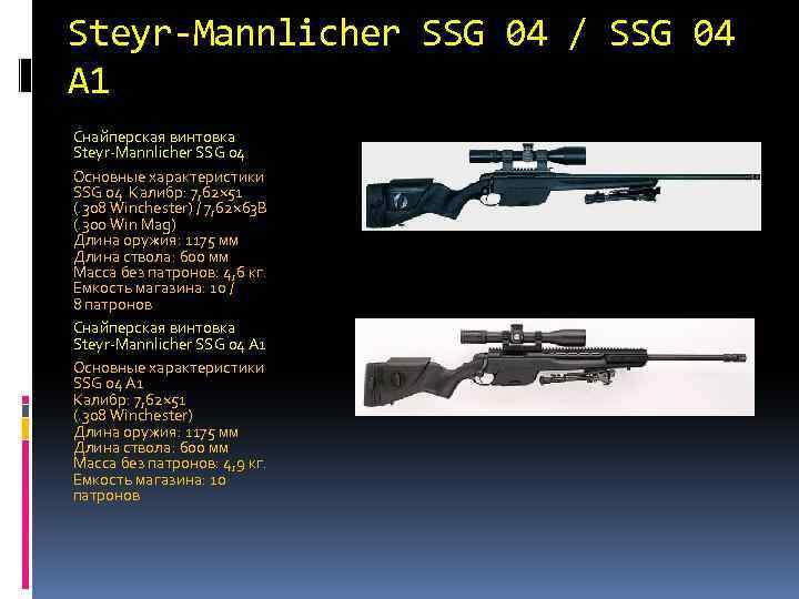Снайперская винтовка steyr ssg carbon