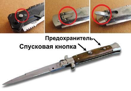 Нож с выкидным лезвием вперед