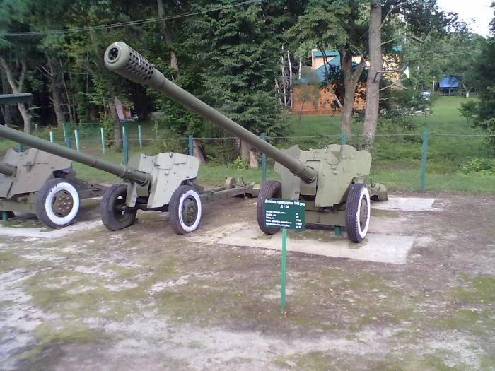 Артиллерийские орудия и сау в техническом музее, г.тольятти
