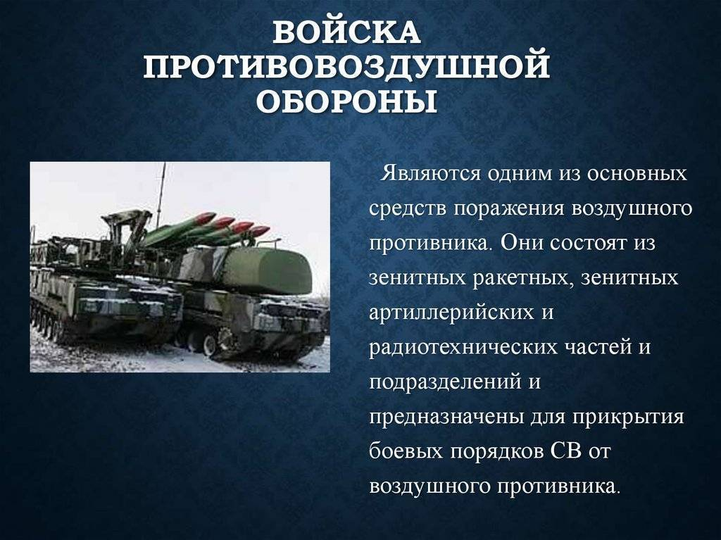 Войска противовоздушной и противоракетной обороны