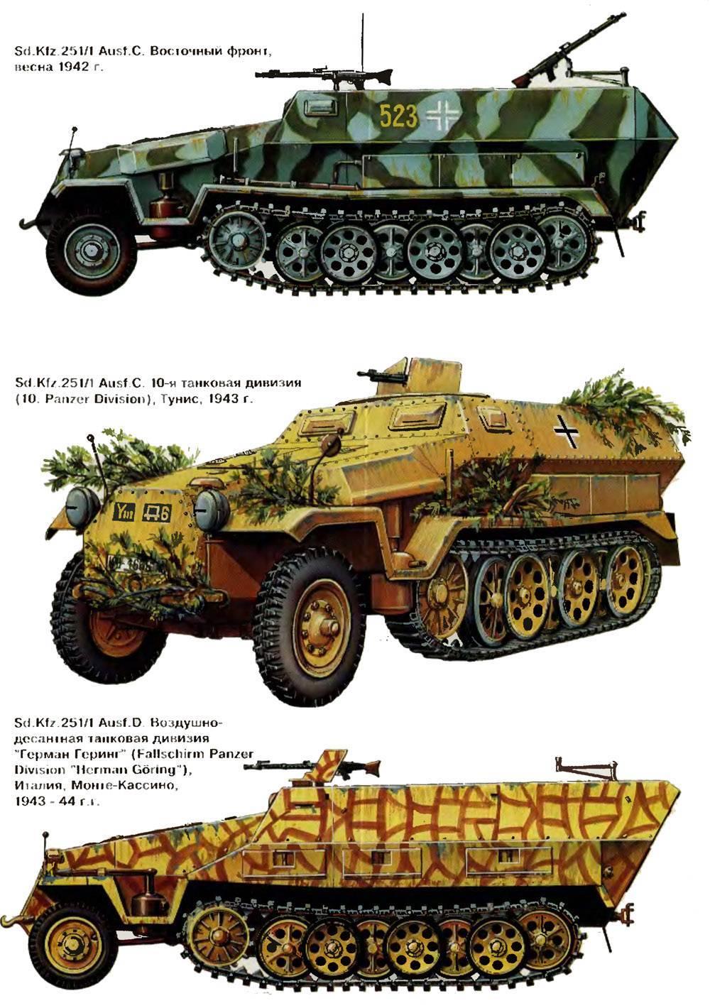 Бронетранспортер «hanomag» («ганомаг») sd.kfz.251 | армии и солдаты. военная энциклопедия