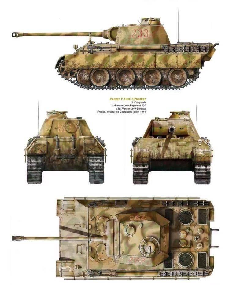 Испытано в ссср. средние танки pz.kpfw.v panther