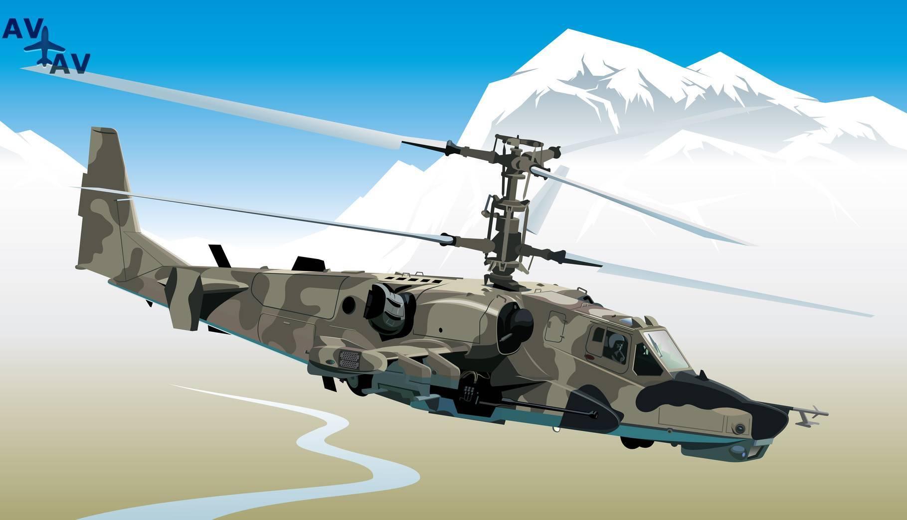 Вертолет ка-52 «аллигатор». фото. видео. характеристики. вооружение.