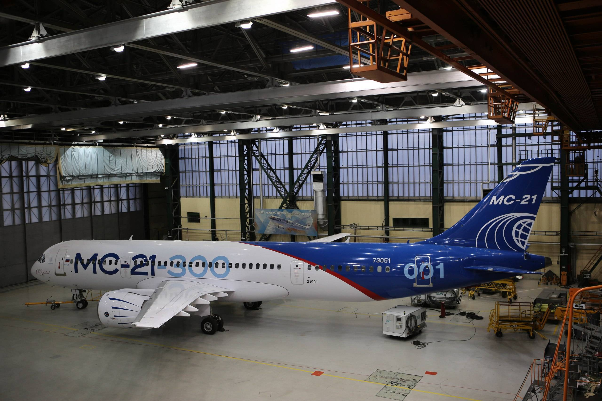В иркутске впервые представили новейший пассажирский самолет мс-21