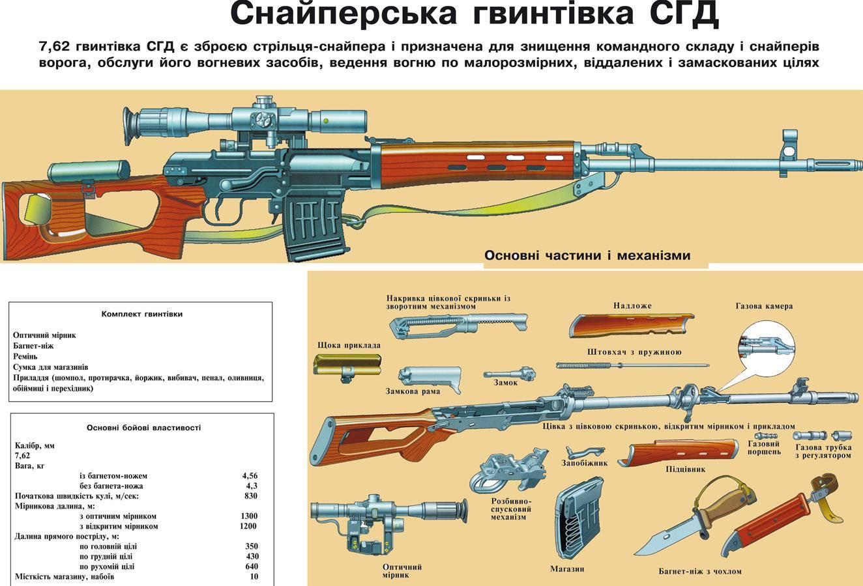 Легендарная снайперская винтовка свд: тактико-технические характеристики (ттх) и современные модификации