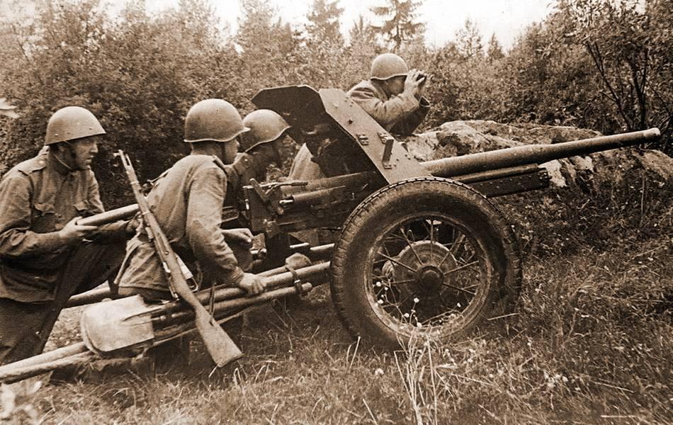 Советская 45 мм противотанковая пушка. «сорокопятка» – знаменитая рабочая лошадка великой войны