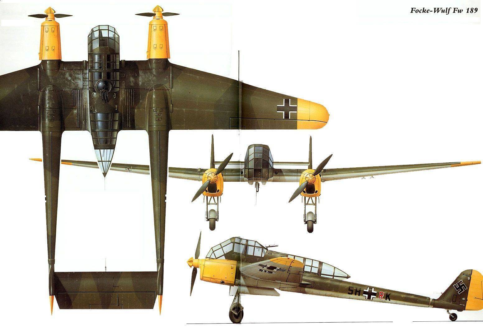 Fw-189 рама
