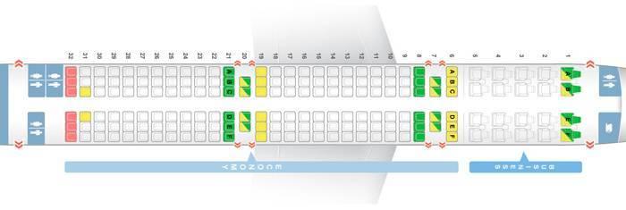 Схема салона самолета аэробус а321
