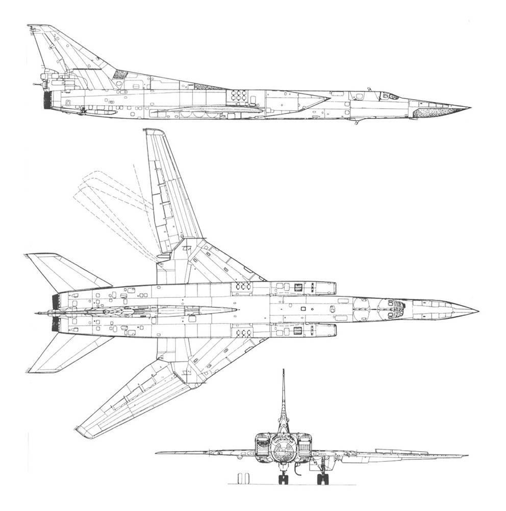 Технические характеристики самолета ту-22м3