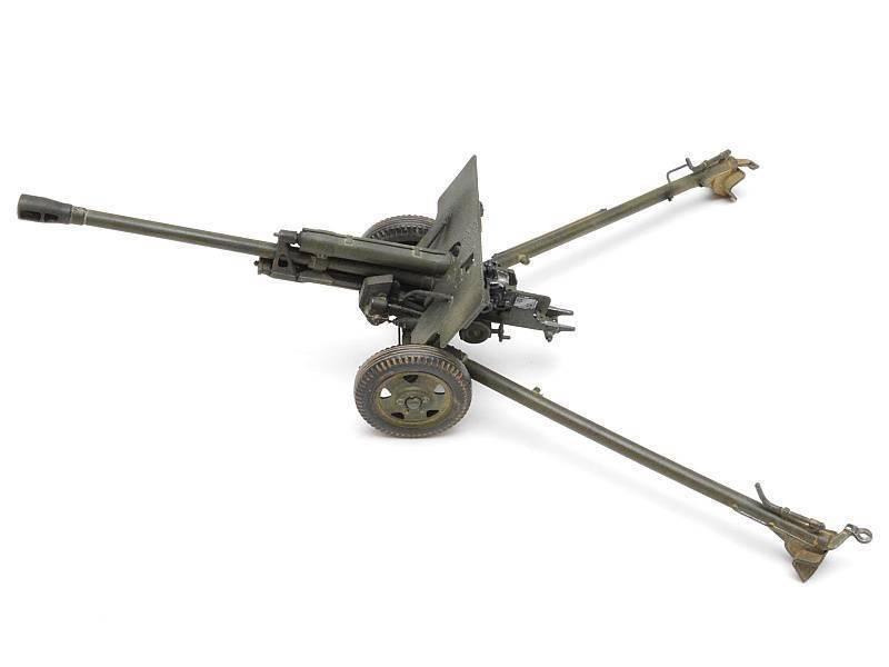Сталинский залп по фашистам из пушки ЗИС-3