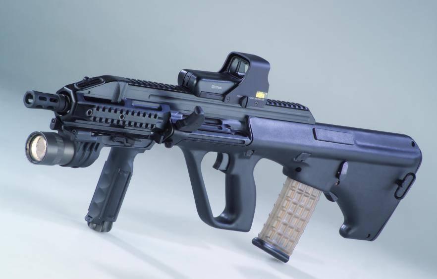Ручной пулемет steyr aug h-bar