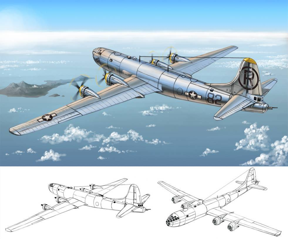 Боинг в-50 суперфортресс - boeing b-50 superfortress