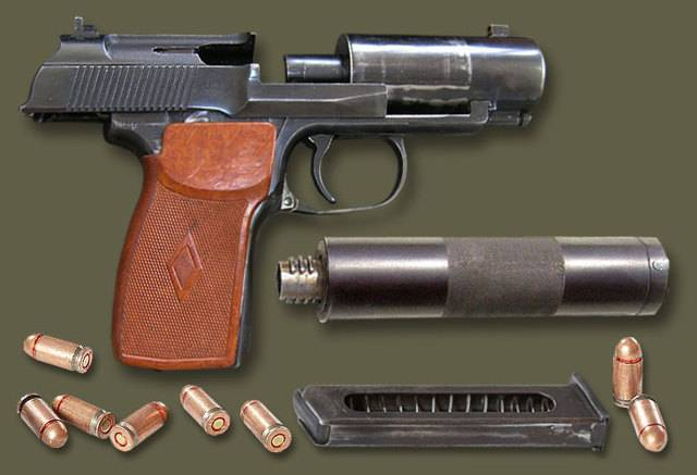 Пистолет пб ттх, фото, видео, размеры, скорострельность, скорость пули, прицельная дальность, вес