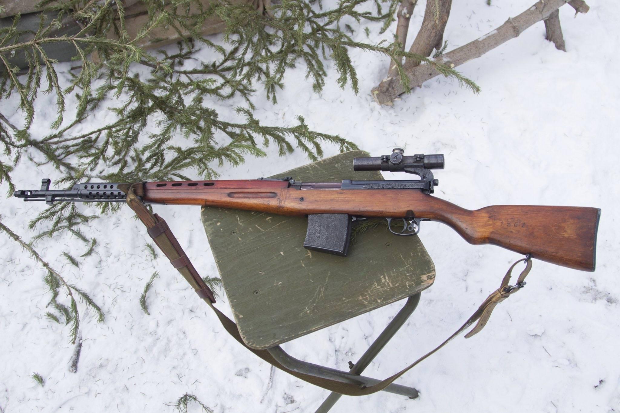 Охолощенное оружие: самозарядная винтовка Токарева СВТ-СХ