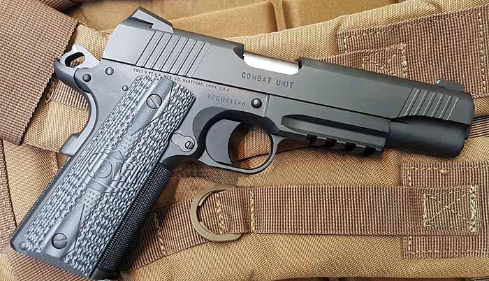 Colt combat unit rail gun пистолет — характеристики, фото, ттх
