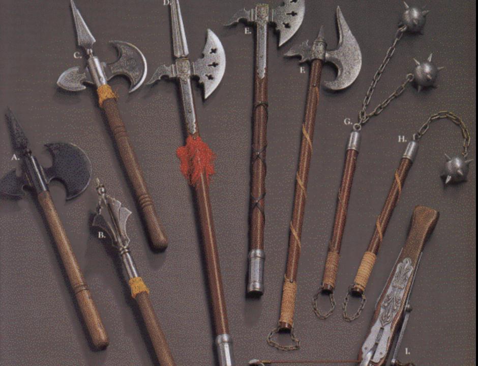 Оружие средних веков описание