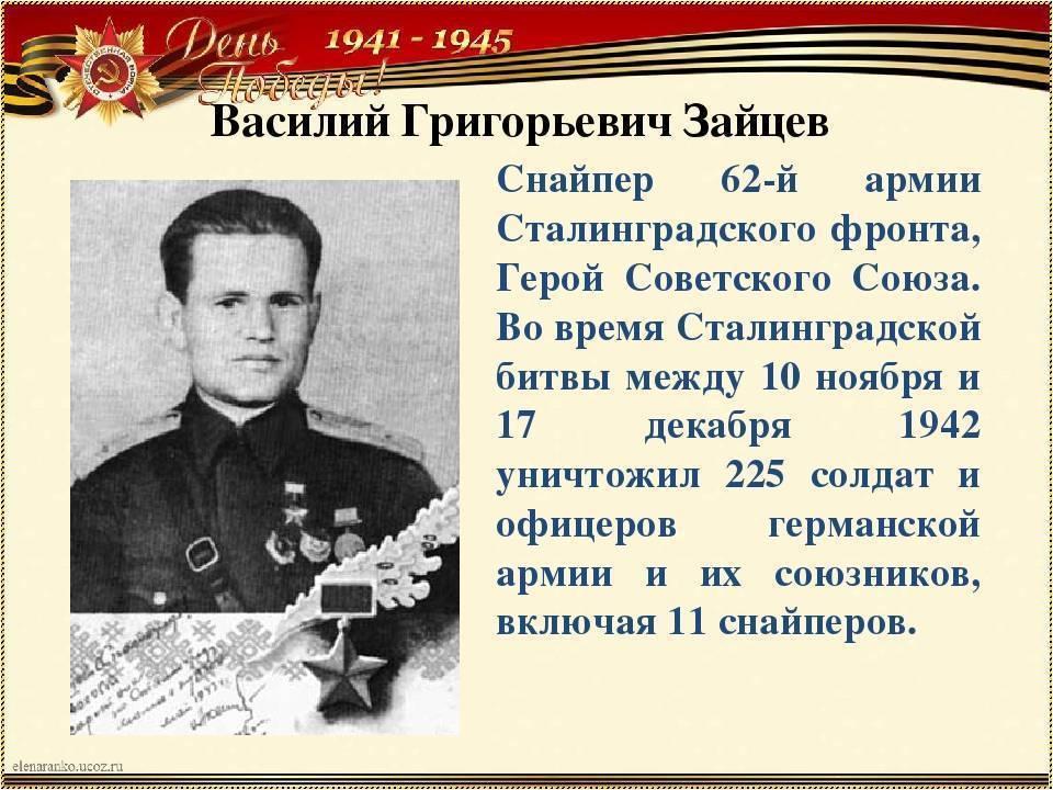 Кто самый знаменитый снайпер из героев сталинграда?