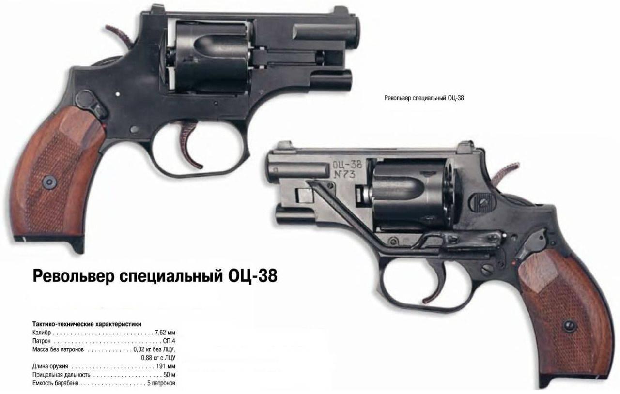 Бесшумный револьвер ОЦ-38