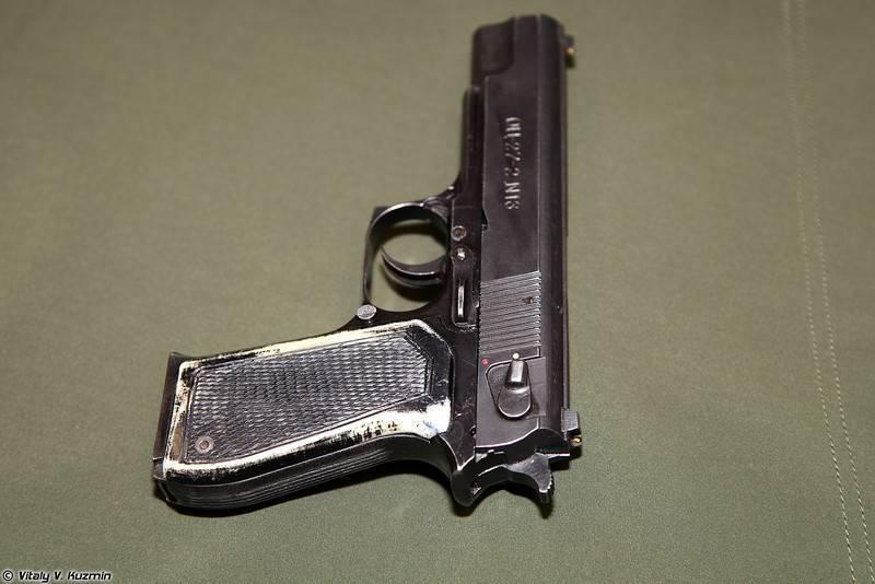 Пистолет оц-21 малыш ттх. фото. видео. размеры. скорострельность. скорость пули. прицельная дальность. вес