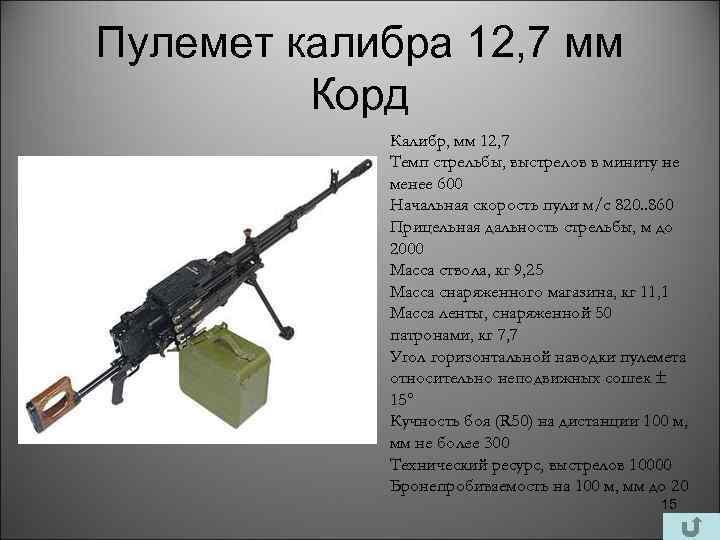По схеме «дрейзе». история крупнокалиберного пулемёта.
