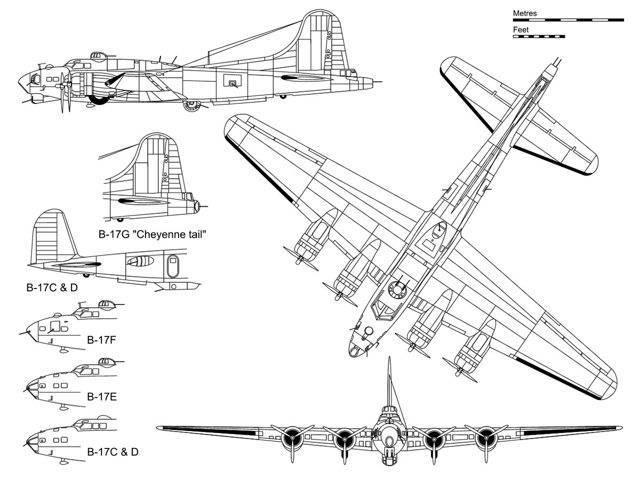 B-17 летающая крепость фото. видео. вооружение. скорость. ттх