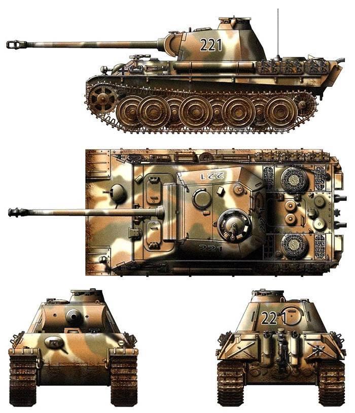 Panther mit 8,8 cm l/71