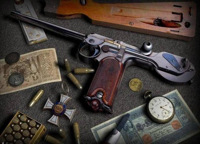 История легендарного оружия : парабеллум, автоматический самозарядный пистолет люгера (5фото)